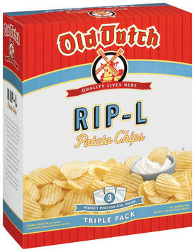 Old Dutch Rip-L Triple Pack Potato Chips   Box