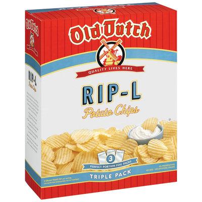 Old Dutch Rip-L Triple Pack Potato Chips   Box