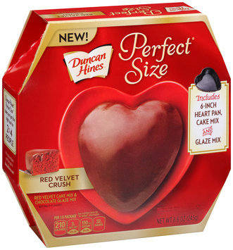 Duncan Hines® Perfect Size® Red Velvet Crush Cake & Frosting Mix 8.6 oz. Box