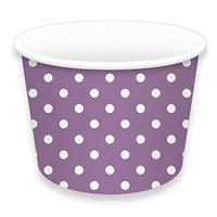 LolliZ Treat Cups 8Oz Polka Dots-Lavender 12 Pcs