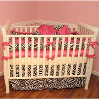 Ozark Mountain Kids Hot Pink Zebra 4 Piece Crib Bedding Set Size: Regular Crib