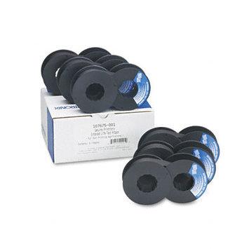 Printronix 107675001 Printer Ribbon, 30M Yield, Black, Six/bx