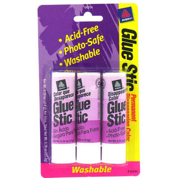 Avery 3 Count .26 Oz Disappearing Glue Stic (Set of 6)