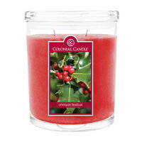 Fragranced in-line Container CC022.2105 22oz. Oval Crimson Festival Candles