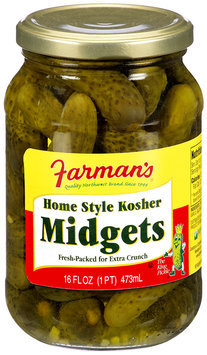 Farman's® Home Style Kosher Midgets 16 fl. oz.