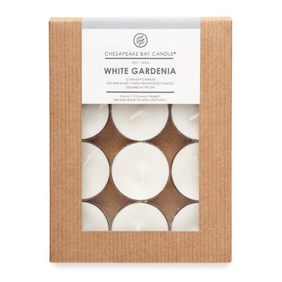 Chesapeake Bay Candles Hertitage White Gardenia Tea Light Candle