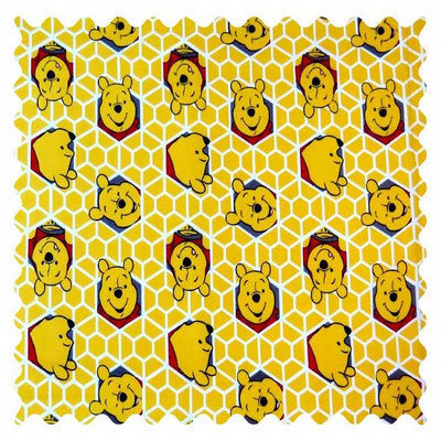 Stwd Winnie The Pooh Honeycomb Fabric by the Yard