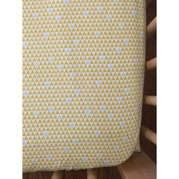 Simple Grace Design Mod Triangles Organic Crib Sheet