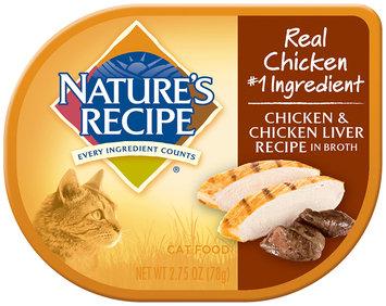 Nature's Recipe® Chicken & Chicken Liver Recipe in Broth Cat Food 2.75 oz. Container