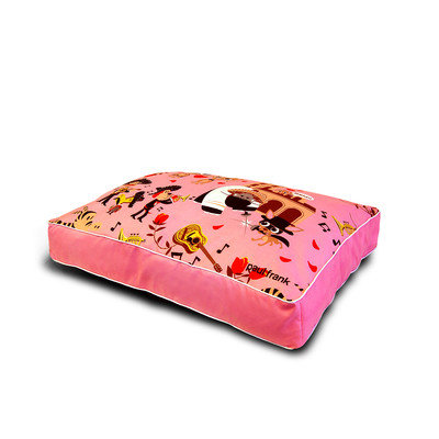 Bars & A Band Paul Frank Dog Bed - Size: Queen, Style: Wedding Bells