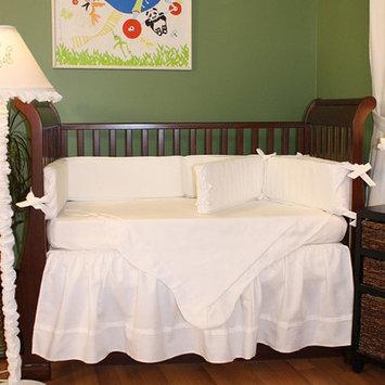 Cribs Hoohobbers White Pique 4 Piece Crib Bedding Set