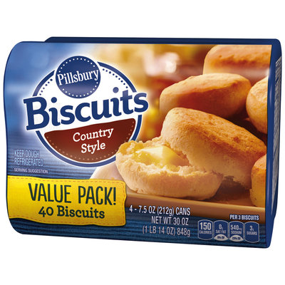 Pillsbury Country Style Biscuits 4-7.5 oz. Cans