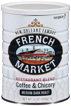 French Market® Restaurant Blend Medium-Dark Roast Ground Coffee & Chicory 12 oz. Canister