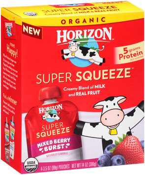 Horizon™ Super Squeeze™ Mixed Berry Burst Fruit Blend 4-3.5 oz. Box
