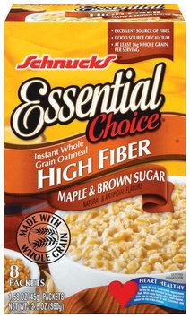 Schnucks Essential Choice High Fiber Maple & Brown Sugar 1.58 Oz Instant Oatmeal 8 Ct Box