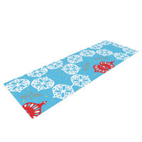 Kess Inhouse Frosted by Miranda Mol Holiday Yoga Mat Color: Blue