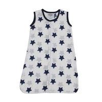 Bacati Stars Sleep Sack Size: Medium, Color: Navy