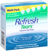 Refresh Tears® Lubricant Eye Drops 4-0.5 & 1-0.17 fl. oz. Bottles