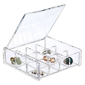 Bed Bath N More Square Acrylic Cosmetic/ Jewelry Organizer