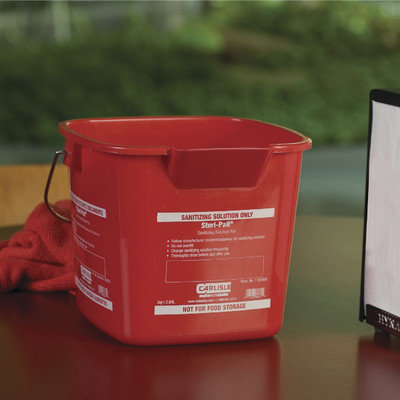 Carlisle Red Steri-Pail for Sanitizing Solutions (12-Case)