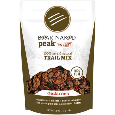 Bear Naked Peak Energy Chocolate Cherry Trail Mix 4.5 Oz Stand Up Bag