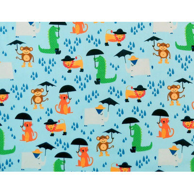 Stwd Animal Showers Crib Sheet Color: Blue