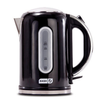 Dash Rapid Electric Kettle Stainless Steel 1.7 Liter Black