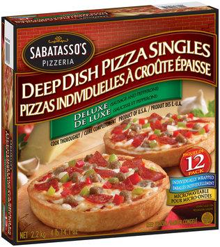 Sabatasso's® Deluxe Deep Dish Pizza Singles 78.1 oz. Box