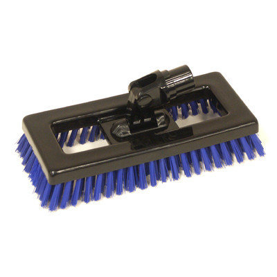 Syr Swivel Deck Brush BLK Bristles Color: Blue
