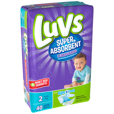 Stretch Luvs Super Absorbent Leakguards Diapers Size 2 40 Count