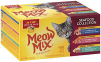 Meow Mix® Seafood Collection Wet Cat Food Variety Pack, 2.75 oz. Cups (Pack of 36)