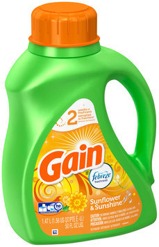 Gain Liquid Laundry Detergent, Sunflower and Sunshine 24 Loads 50 Fl Oz