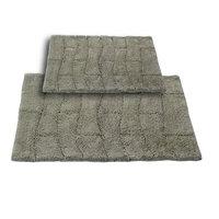 Textile Decor Castle 2 Piece 100% Cotton New Tile Spray Latex Bath Rug Set, 24 H X 17 W and 30 H X 20 W