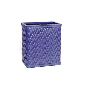 Redmon S423MO Elegante Decorator Color Wicker Wastebasket - Mocha