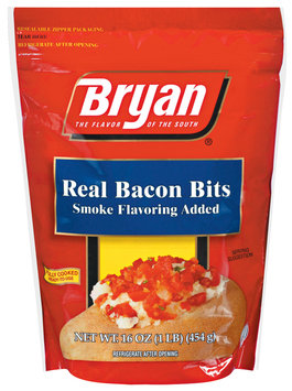 Bryan Real Smoke Flavoring Added Bacon Bits 1 Lb Pouch