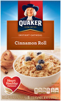 Quaker® Cinnamon Roll Instant Oatmeal