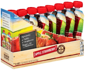 Smucker's® Fruit-Fulls™ Apple Strawberry Pure Blended Fruit 8-4 oz. Pouches
