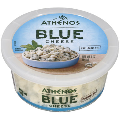 Athenos Blue Crumbled Cheese 5 Oz Tub