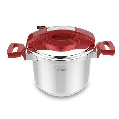 Hisr Neptun 6.3-Quart Pressure Cooker Color: Red