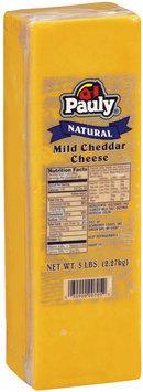 Pauly® Natural Mild Cheddar Cheese 5 lb. brick