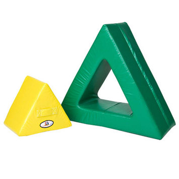 Foamnasium 1057 Triangle in Triangle - Yellow out or Green in