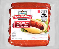 Farmer John® Red Hots Extra Hot! Smoked Sausage 8 ct Pack