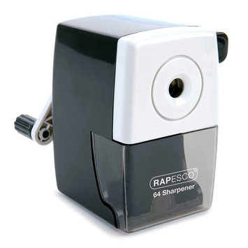 Rapesco RAPR64000B2 64 Desk Top Pencil Sharpener Black