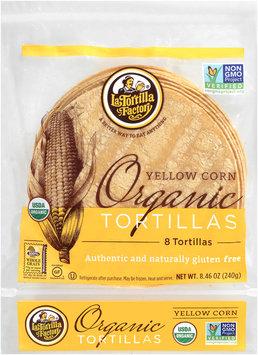La Tortilla Factory® Organic Yellow Corn Tortillas 8 ct Bag