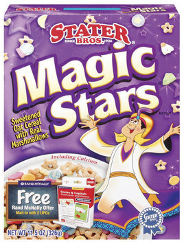 Stater Bros. Magic Stars Sweetened Oat W/Marshmallows Cereal 11.5 Oz Box