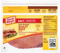 Oscar Mayer Cured Slow Roasted Roast Beef 10 oz. ZIP-PAK®