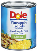 DOLE® Pineapple Tidbits for Pizza in Light Syrup