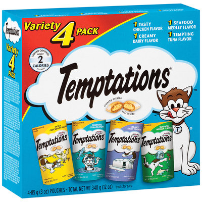 Whiskas® Temptations® Cat Treats Variety Pack 4-3 oz. Pouches