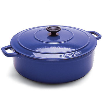 Chasseur 2 Qt Red Enamel Cast-Iron Round Dutch Oven