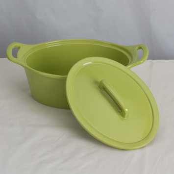 Omniware Stoneware Oval Casserole Size: Large, Color: Citron